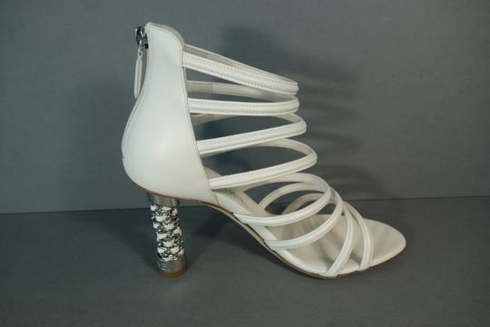 Chanel White Ivory Cream Sandals Image 6