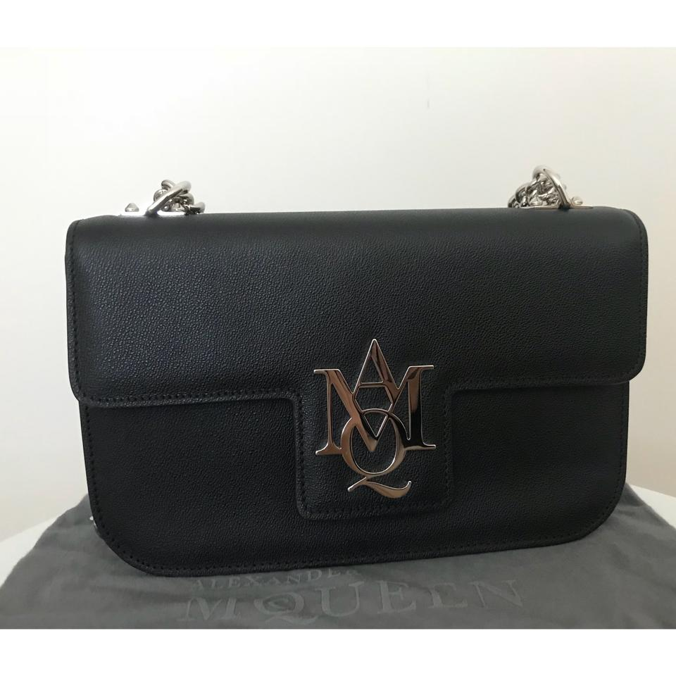Insignia McQueen Satchel Black Leather Chain Alexander v0TwHT