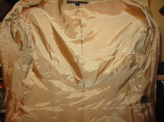 Lafayette 148 New York Suede Studded Beaded Sequin tan Leather Jacket Image 10