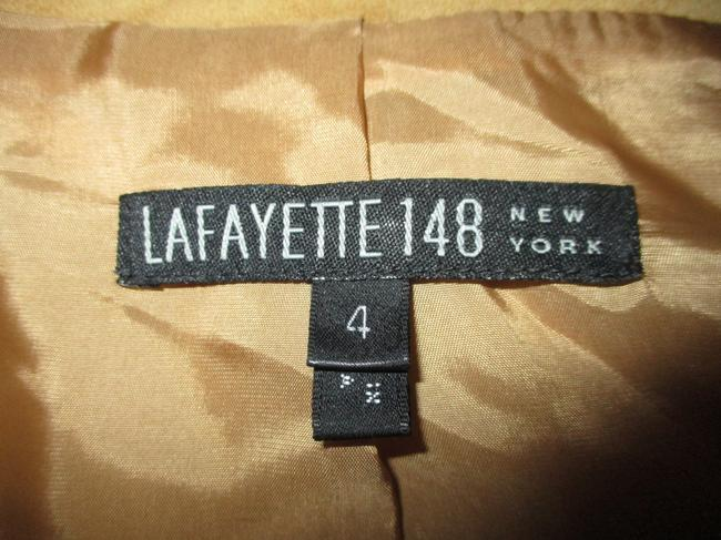 Lafayette 148 New York Suede Studded Beaded Sequin tan Leather Jacket Image 9