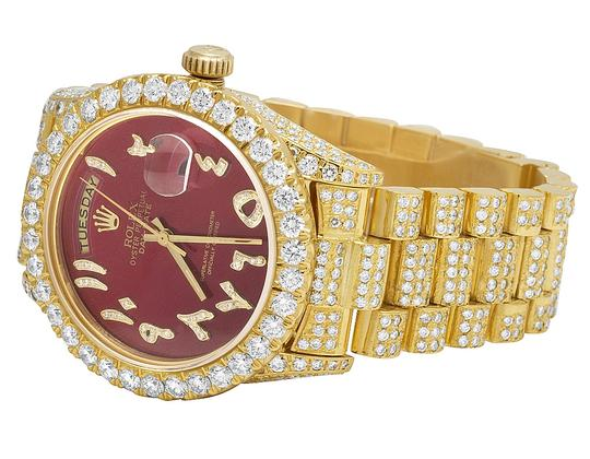 Rolex 18K Yellow Gold 18038 Day-Date President Red 36MM Diamond 22.35 Ct Image 2