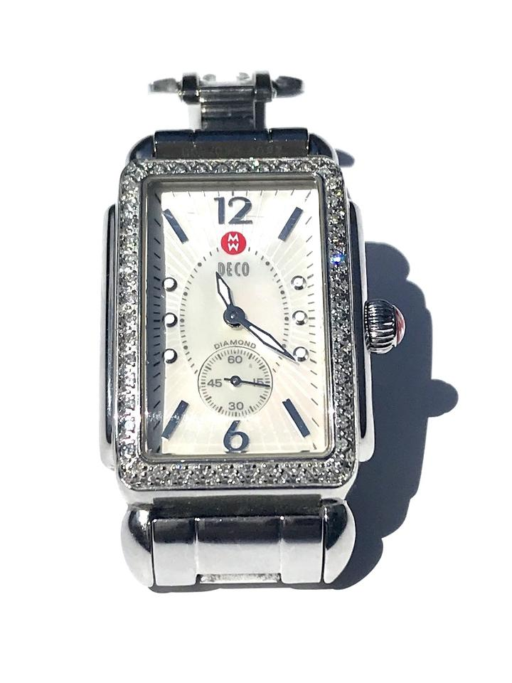 04a36575b941 Michele Michele Deco Stainless Steel .57 CT TW 100 Diamonds 35mmx30mmWatch  Image 0 ...