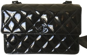 317332290a16 Added to Shopping Bag. Chanel Shoulder Bag. Chanel Classic Flap Diamond  Quilted Black Patent Leather ...