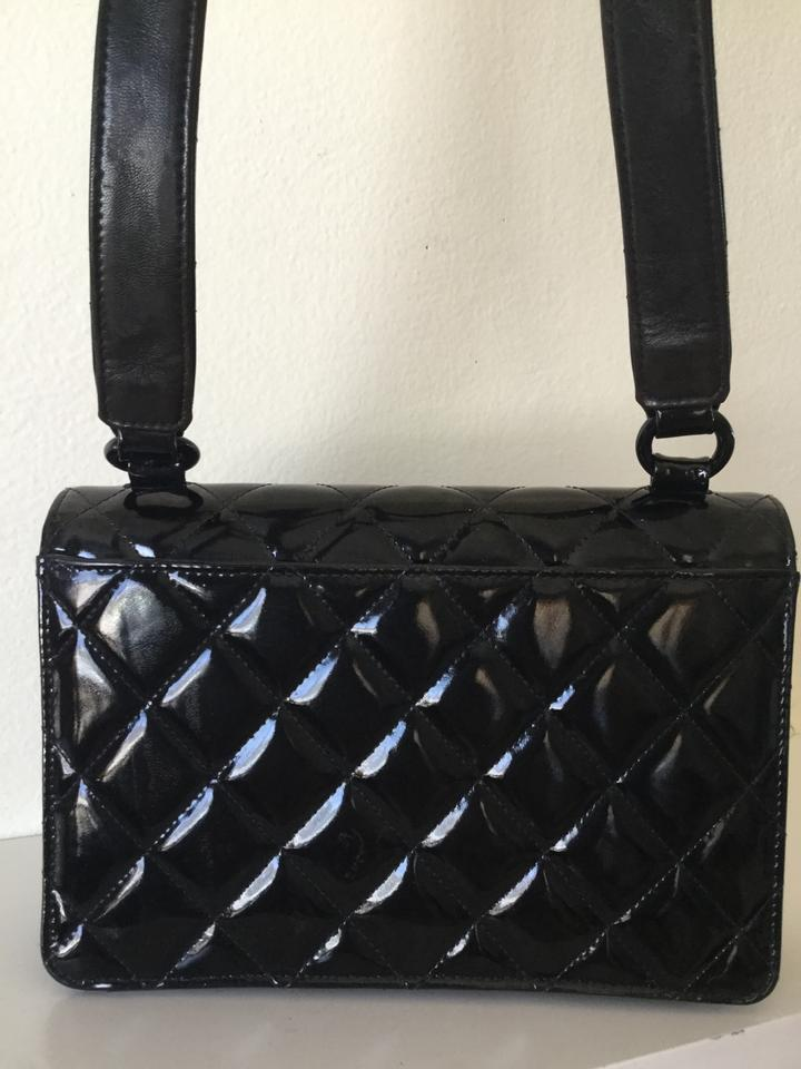 b37f53baa2b18a Chanel Classic Flap Diamond Quilted Black Patent Leather Shoulder Bag -  Tradesy
