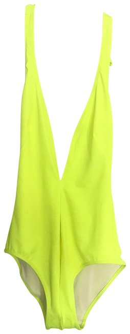 Item - Neon Yellow One-piece Bathing Suit Size 4 (S)