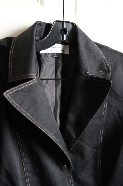 Tahari Work Clothes Black Blazer