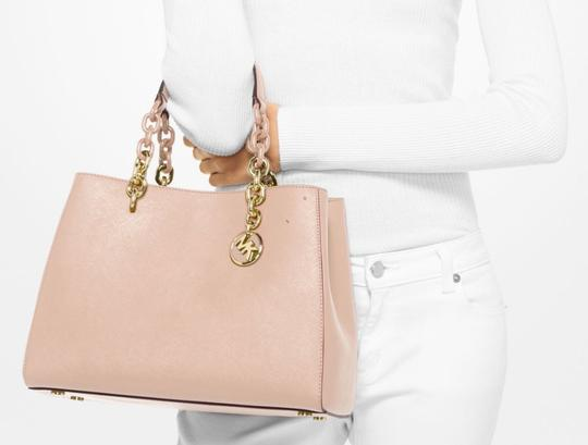 Michael Kors Leather Satchel in soft pink
