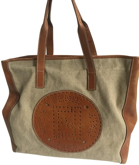 Preload https://item2.tradesy.com/images/fendi-vintage-beige-leather-and-canvas-tote-23755376-0-1.jpg?width=440&height=440