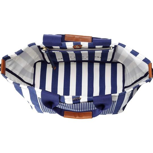 Marc by Marc Jacobs Tote in White/Blue Stripes