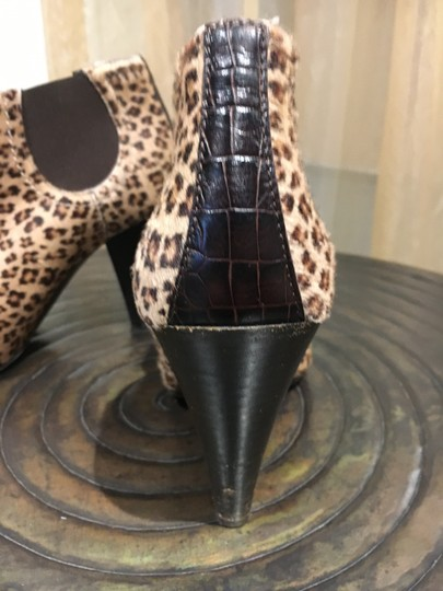 Donald J. Pliner Leopard Fall Ankle Brown Boots