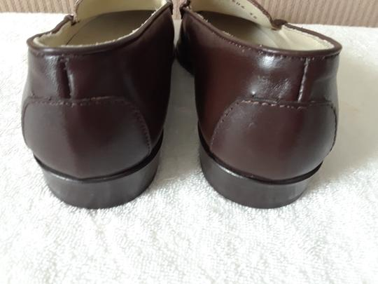 Avanti Leather Loafers Brown Flats
