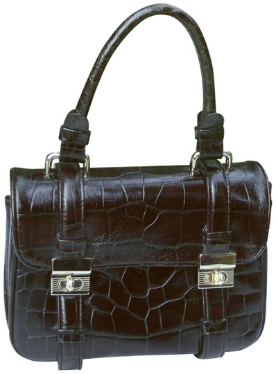 Preload https://item4.tradesy.com/images/kenneth-cole-small-top-handle-handbag-croc-embossed-brown-leather-satchel-23755488-0-1.jpg?width=440&height=440