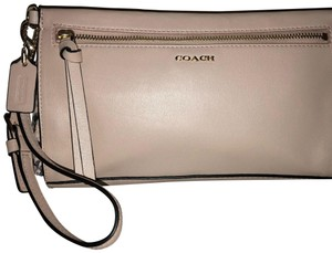 Coach Wristlet in Blush with Snakeskin Details on sides