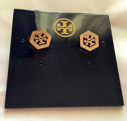 Tory Burch Stud Hex Logo with Dust Bag Earrings