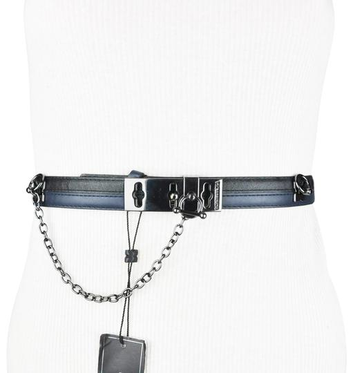 Preload https://item4.tradesy.com/images/bcbgmaxazria-black-blue-faux-leather-toggle-belt-23755543-0-1.jpg?width=440&height=440