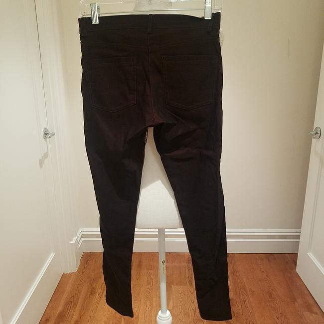 Nicole Miller Lamb Skin Stretchy Night Out Date Night Skinny Pants Black, shiny