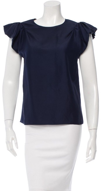 Preload https://item4.tradesy.com/images/saint-laurent-navy-silk-blouse-size-6-s-23755558-0-1.jpg?width=400&height=650