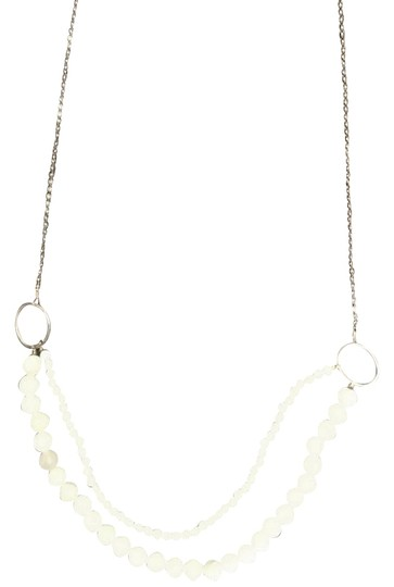 Preload https://img-static.tradesy.com/item/23755565/anthropologie-white-and-gold-double-bead-necklace-0-1-540-540.jpg