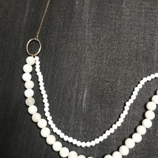 Anthropologie Anthropologie Double Bead White Gold Necklace