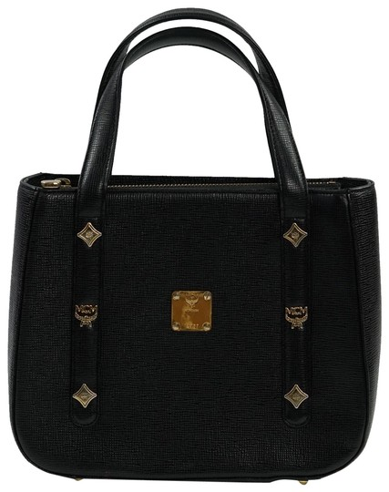 Preload https://img-static.tradesy.com/item/23755575/mcm-vintage-handbag-black-leather-tote-0-3-540-540.jpg