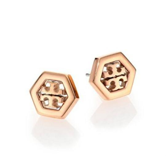 Tory Burch Logo Stud Earrings with Dust Bag