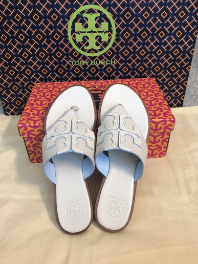 Tory Burch Miller Fleming White Sandals