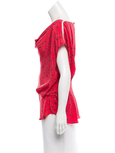 Rachel Comey Top Pink and multi floral silk