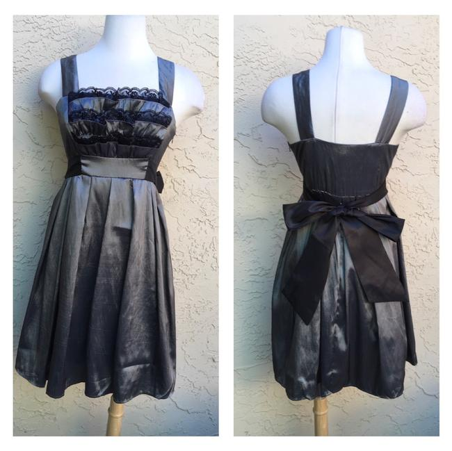 Preload https://item2.tradesy.com/images/ryu-grey-black-new-charcoal-grey-mid-length-cocktail-dress-size-12-l-23755611-0-0.jpg?width=400&height=650
