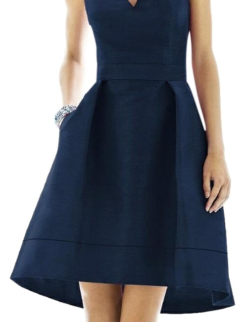 Preload https://item3.tradesy.com/images/alfred-sung-midnight-blue-d588-long-cocktail-dress-size-6-s-23755617-0-2.jpg?width=400&height=650