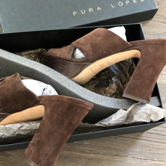 Pura Lopez chocolate Sandals