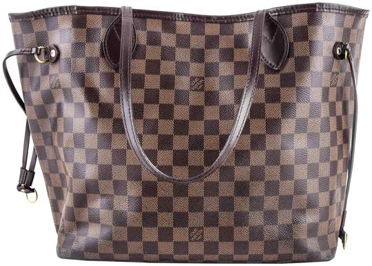 Preload https://item3.tradesy.com/images/louis-vuitton-neverfull-damier-ebene-brown-coated-canvas-shoulder-bag-23755752-0-1.jpg?width=440&height=440