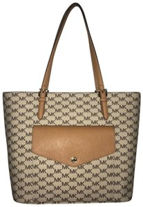 Michael Kors Tote in Tan, Brown, Gold Accents
