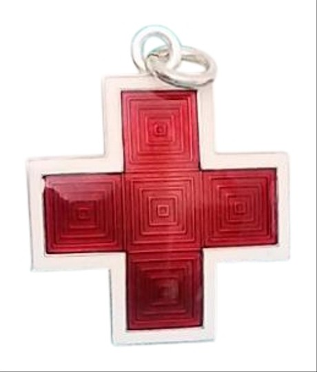Preload https://item3.tradesy.com/images/tiffany-and-co-red-white-silver-rare-enamel-cross-pendant-charm-23755767-0-1.jpg?width=440&height=440