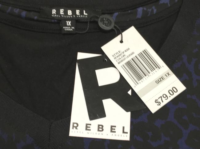 Rebel Wilson x Angels Plus-size Top Midnight Leopard