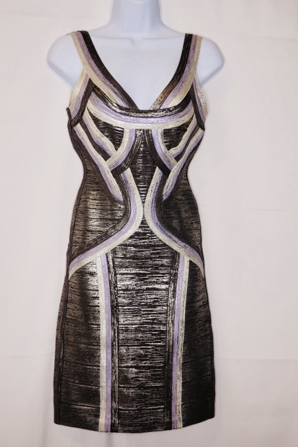 Hervé Leger Metallic Dress
