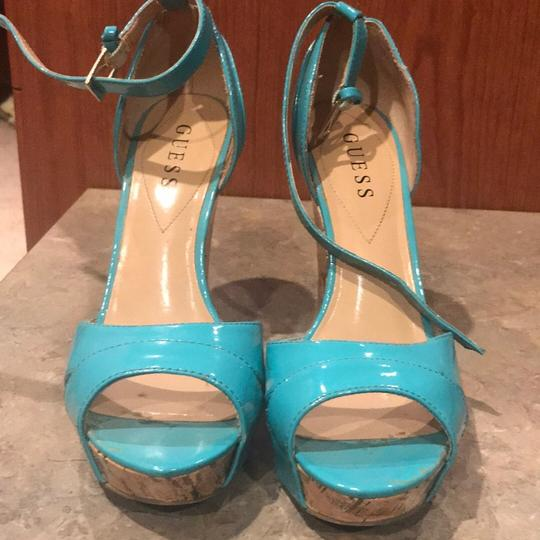 Guess blue Wedges