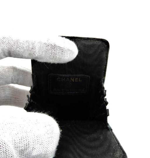 Chanel CC Cocomark Caviar Leather Glasses Case
