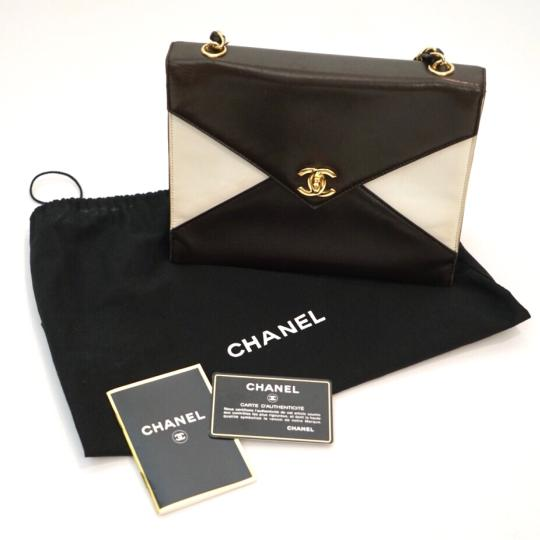 Chanel Satchel in Brown and White