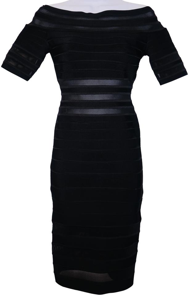 Herv Leger Bandage Sheer Panels With Tags Mid Length Cocktail Dress