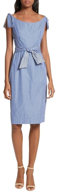 Preload https://img-static.tradesy.com/item/23755922/milly-blue-candice-stripe-shirting-mid-length-workoffice-dress-size-8-m-0-1-650-650.jpg