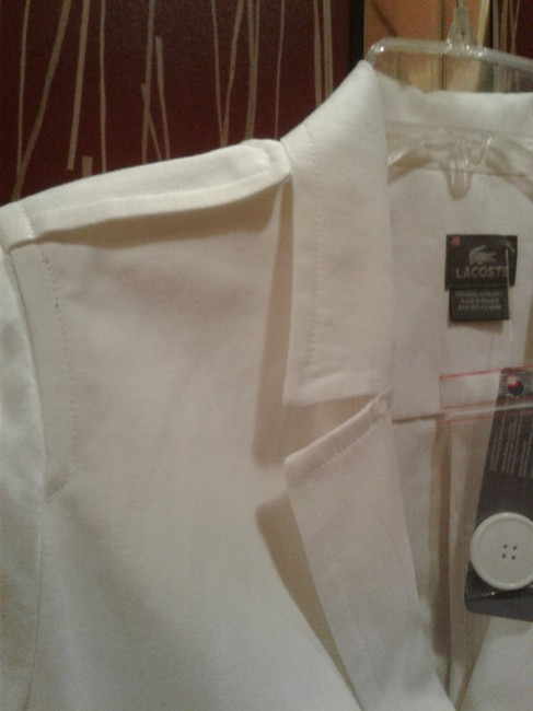 Lacoste Summer Short Double Breasted Made In France Cotton/Linen Cardigan
