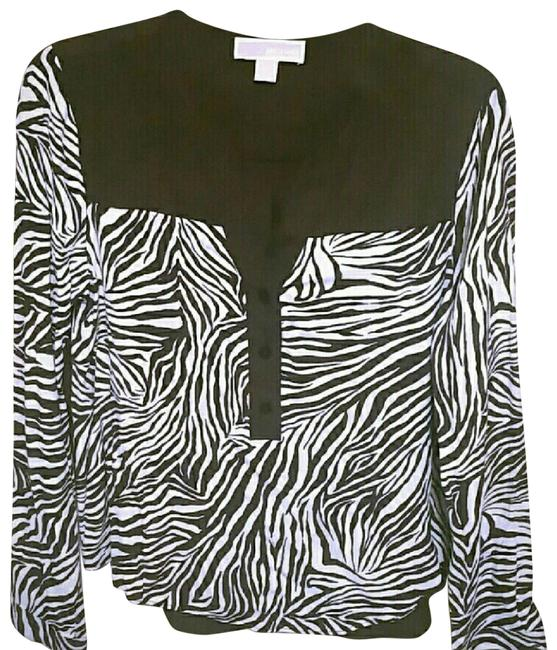 Preload https://img-static.tradesy.com/item/23755964/michael-kors-zebra-print-medium-blouse-size-8-m-0-2-650-650.jpg