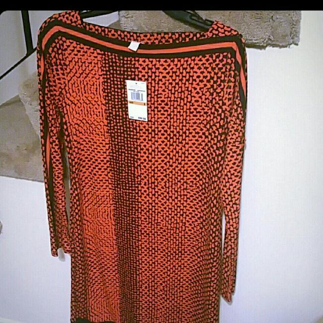 Preload https://item5.tradesy.com/images/michael-kors-burnt-orange-and-black-small-short-night-out-dress-size-6-s-23755989-0-1.jpg?width=400&height=650