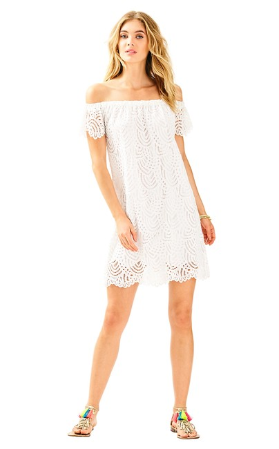Preload https://img-static.tradesy.com/item/23755991/lilly-pulitzer-white-marine-tropic-lace-marble-short-casual-dress-size-2-xs-0-0-650-650.jpg