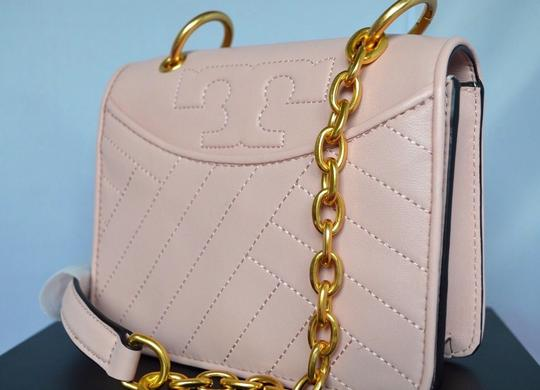 Tory Burch Leather Quilted Fleming Cross Body Bag