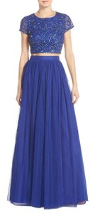 Adrianna Papell Sequin Crop Top Tulle Dress