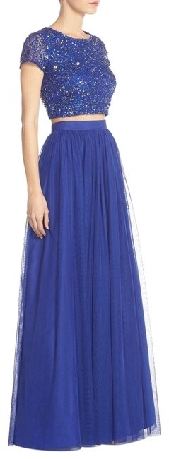 Preload https://item3.tradesy.com/images/adrianna-papell-neptune-blue-sequin-crop-top-and-tulle-skirt-long-formal-dress-size-12-l-23756032-0-1.jpg?width=400&height=650