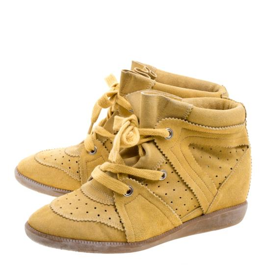 Isabel Marant Suede Wedge yellow Formal