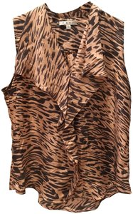CAbi Top Pink and brown