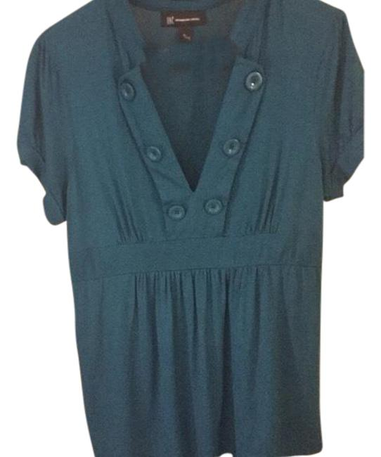 Preload https://item5.tradesy.com/images/blue-babydoll-big-button-blouse-size-16-xl-plus-0x-23756179-0-1.jpg?width=400&height=650